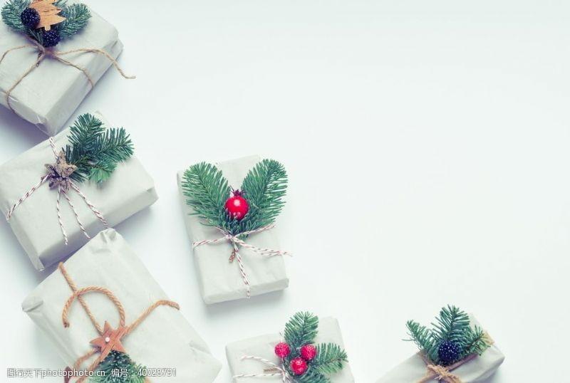 圣诞饰品白色圣诞礼物图片
