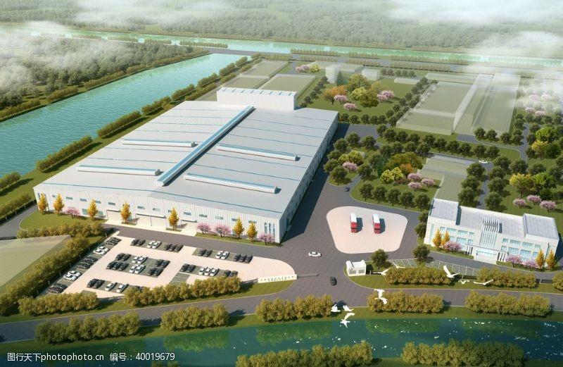 工业生产电厂效果图图片