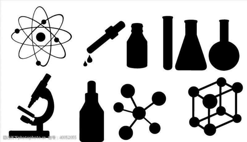 工业生产科研实验小元素矢量剪影图片