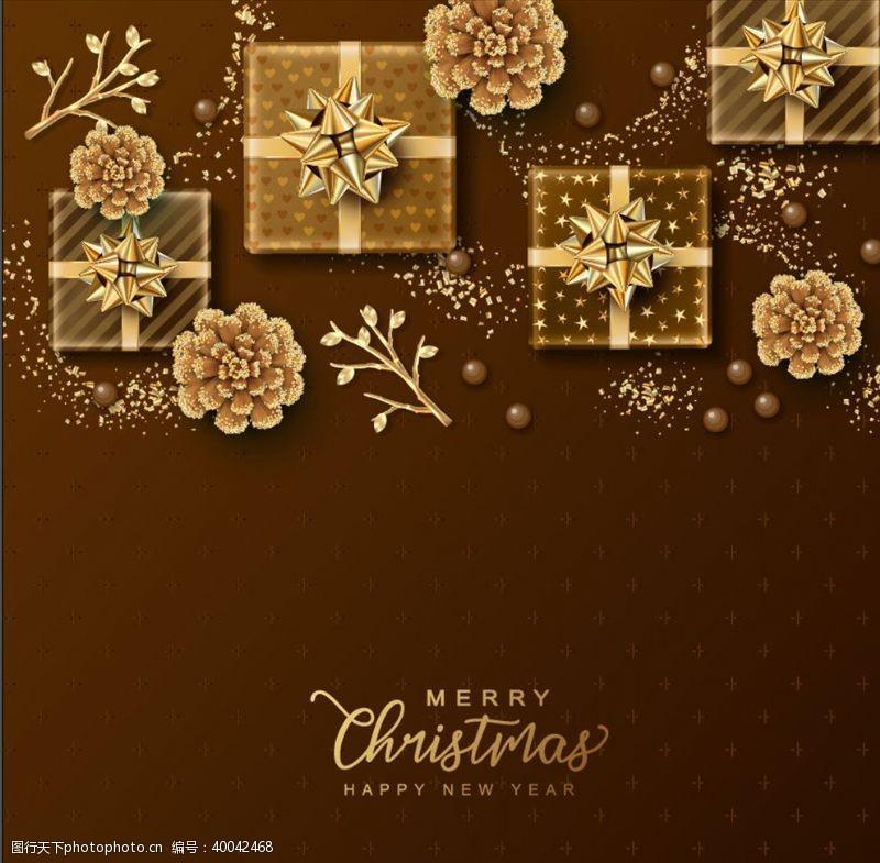 金色圣诞圣诞节图片