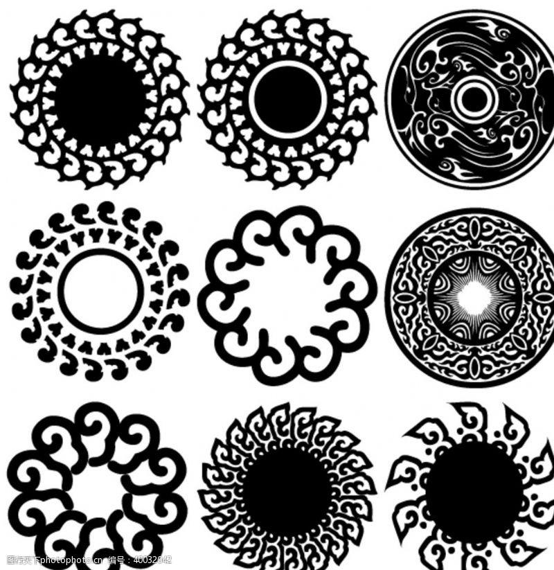古典风格古代艺术传统圆形图案图片