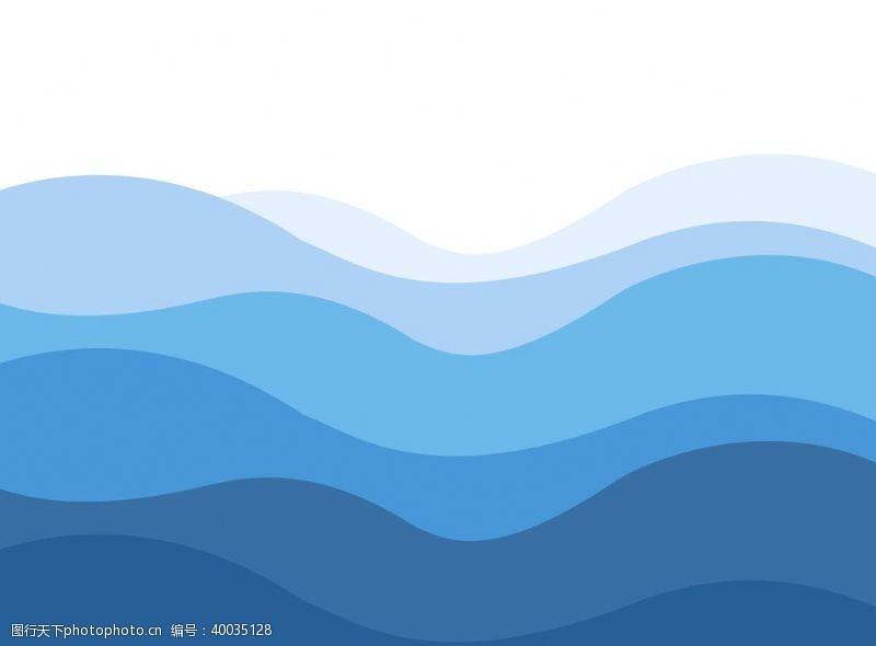 概念图片蓝色波浪抽象概念背景图片