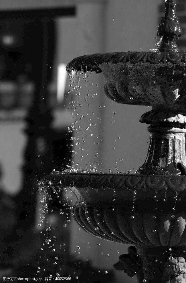 泉水欧式喷泉图片