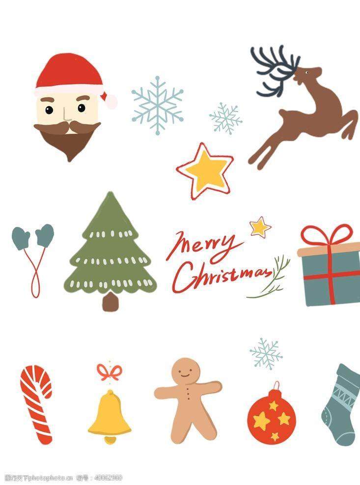 圣诞雪花圣诞装饰元素图片