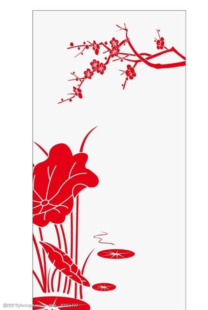 矢量花朵矢量梅花荷花素材图片