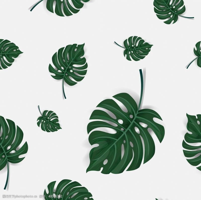 植物花纹无缝印花图片