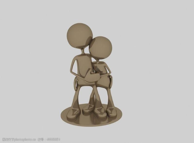 小金人3d模型图片