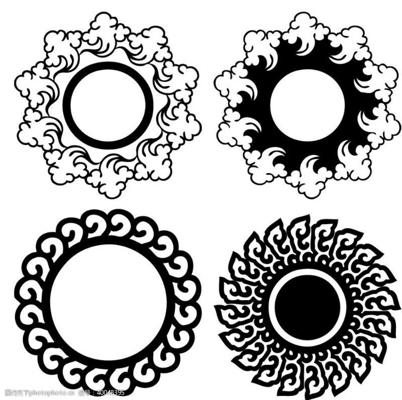 古典风格艺术传统圆形图案图片