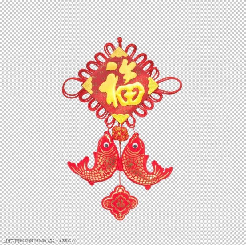 透明元素中国结新年素材图片