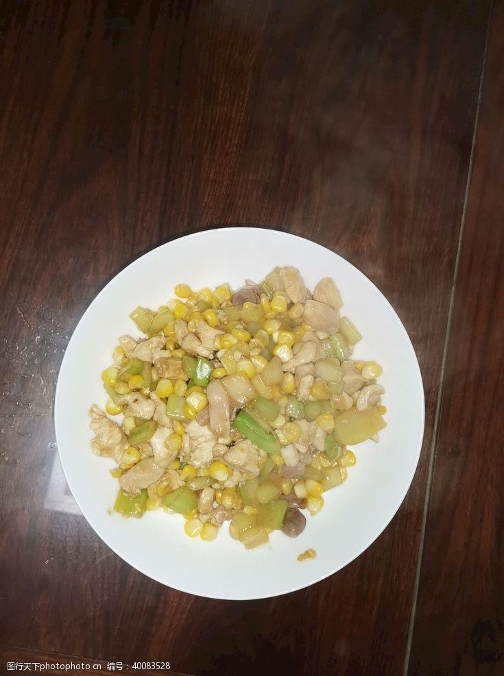 餐饮素材炒肉丁图片