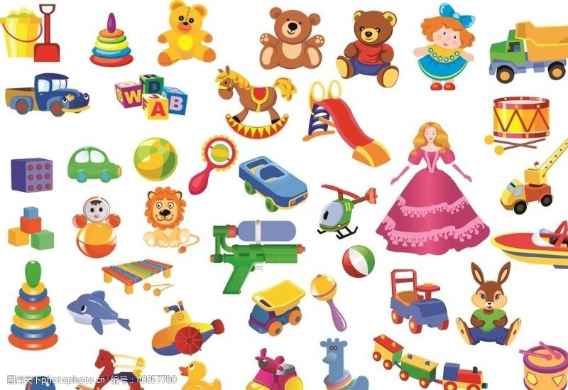 圈圈儿童玩具卡通图片