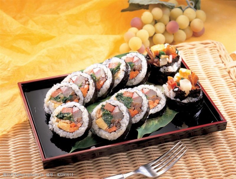 韩式紫菜饭卷图片