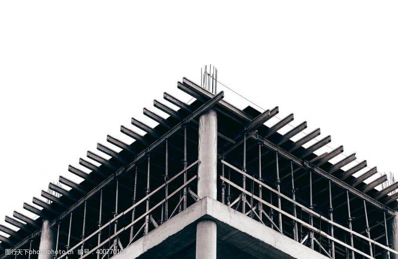 灰黑色灰白色建筑工地楼顶图片