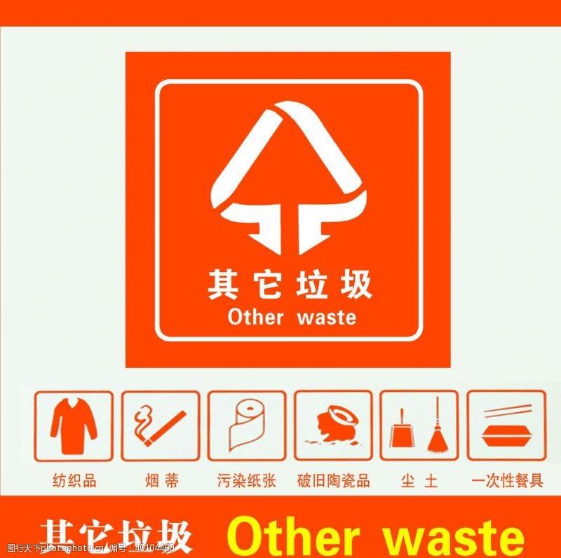 垃圾分类标识图片