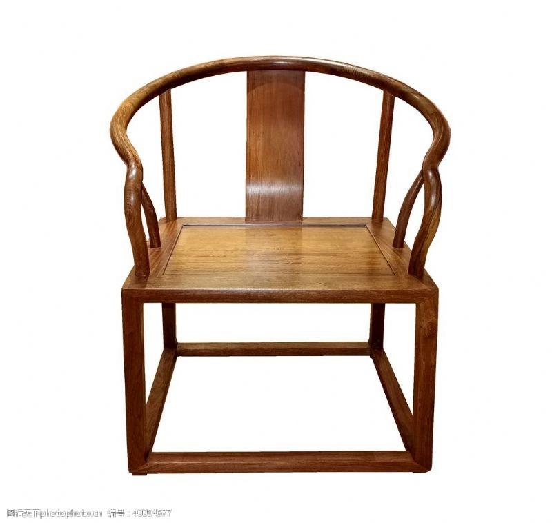 紫檀缅花茶台圈椅图片