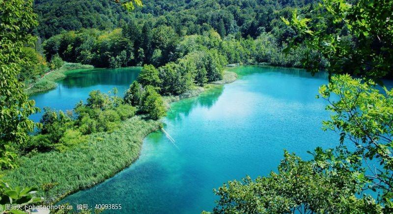 公园湖泊普利特维采湖群国家公园图片