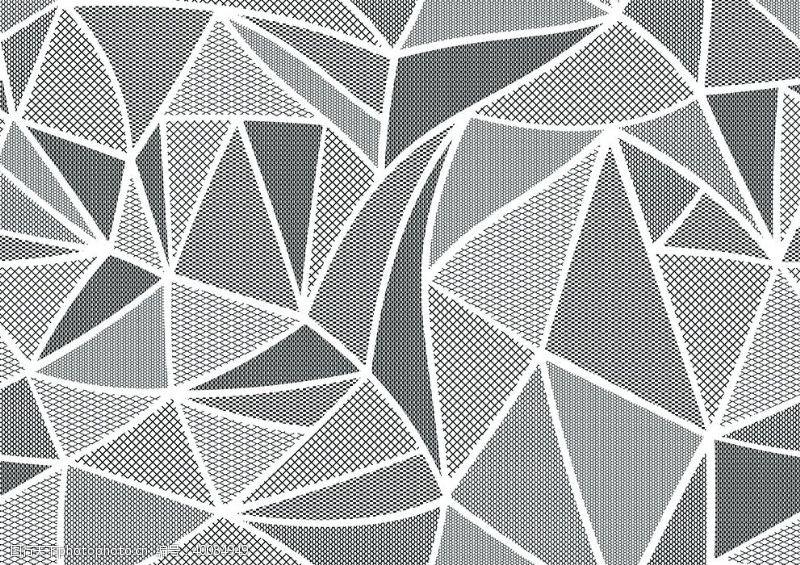 走秀数码印花几何抽象图案图片