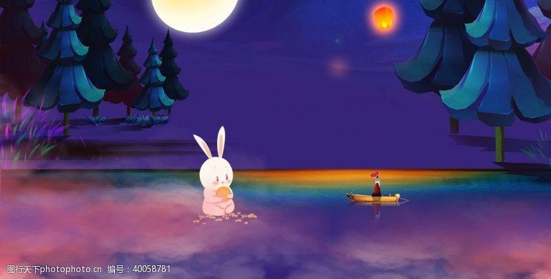 童话故事手绘海报背景图图片