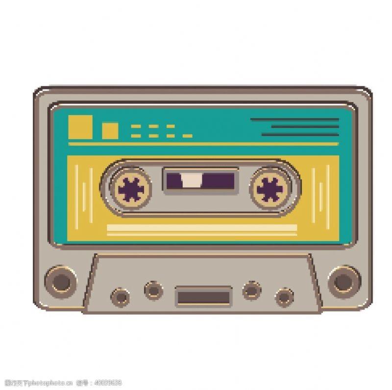 像素复古音乐磁带图片