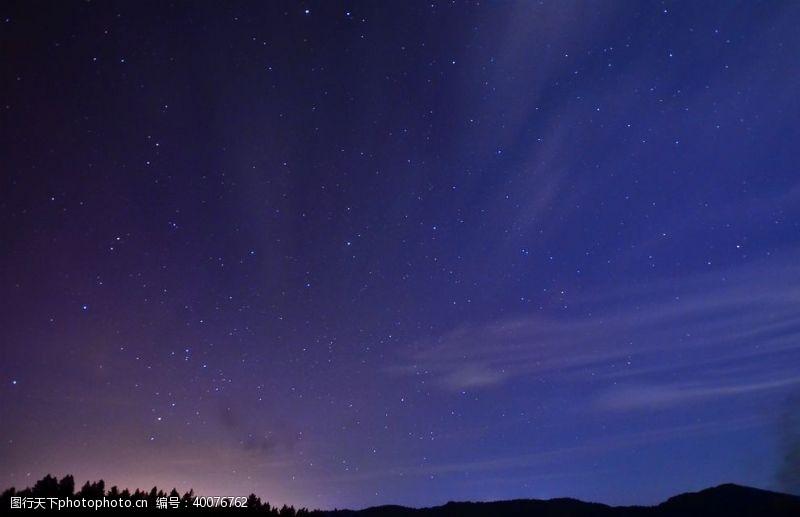 火光星空繁星图片