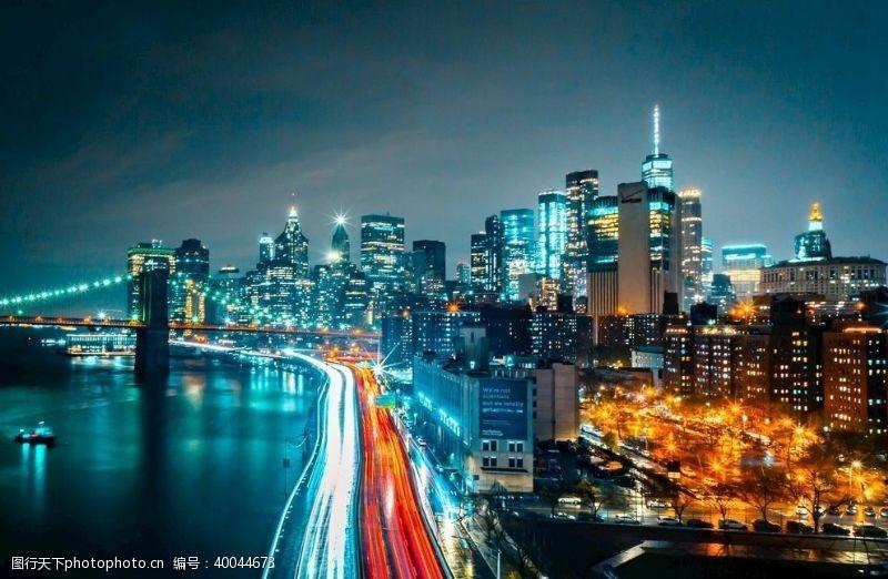 城市流光夜色城市图片
