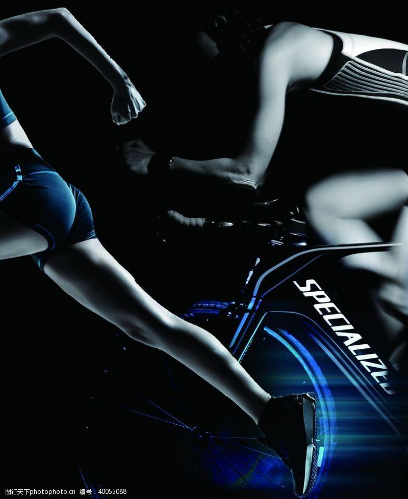 运动休闲自行车运动图片