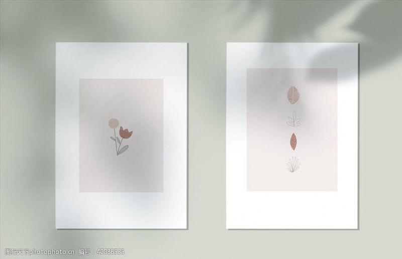 时装光影海报样机图片