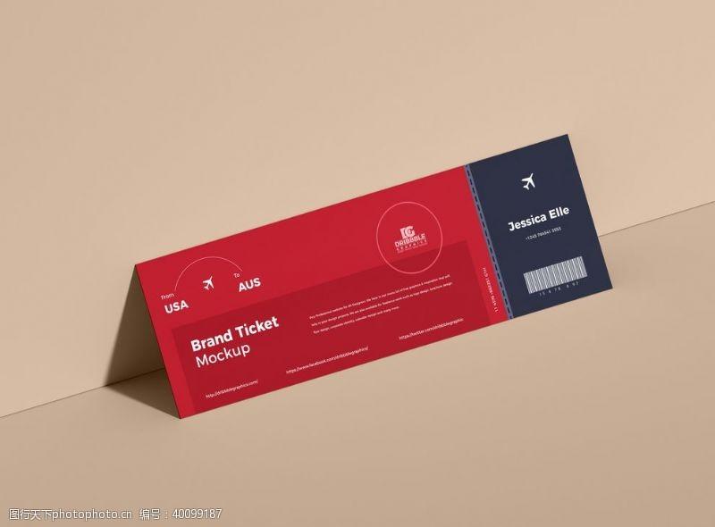 创意概念卡片样机图片