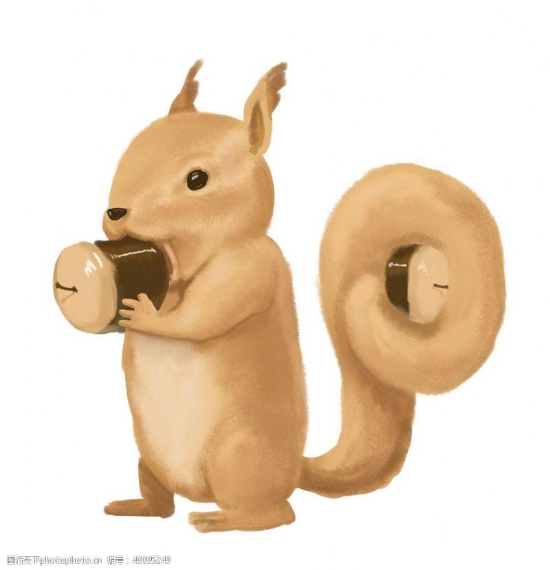动物形象卡通松鼠图片