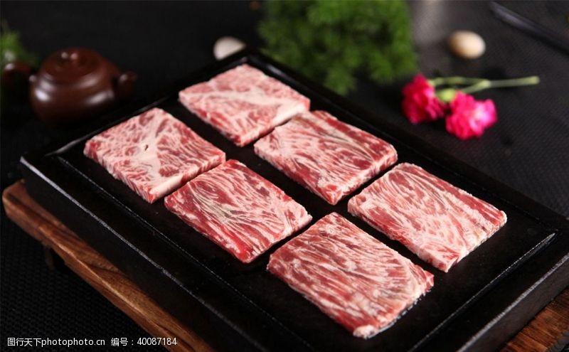 石板雪花牛肉图片