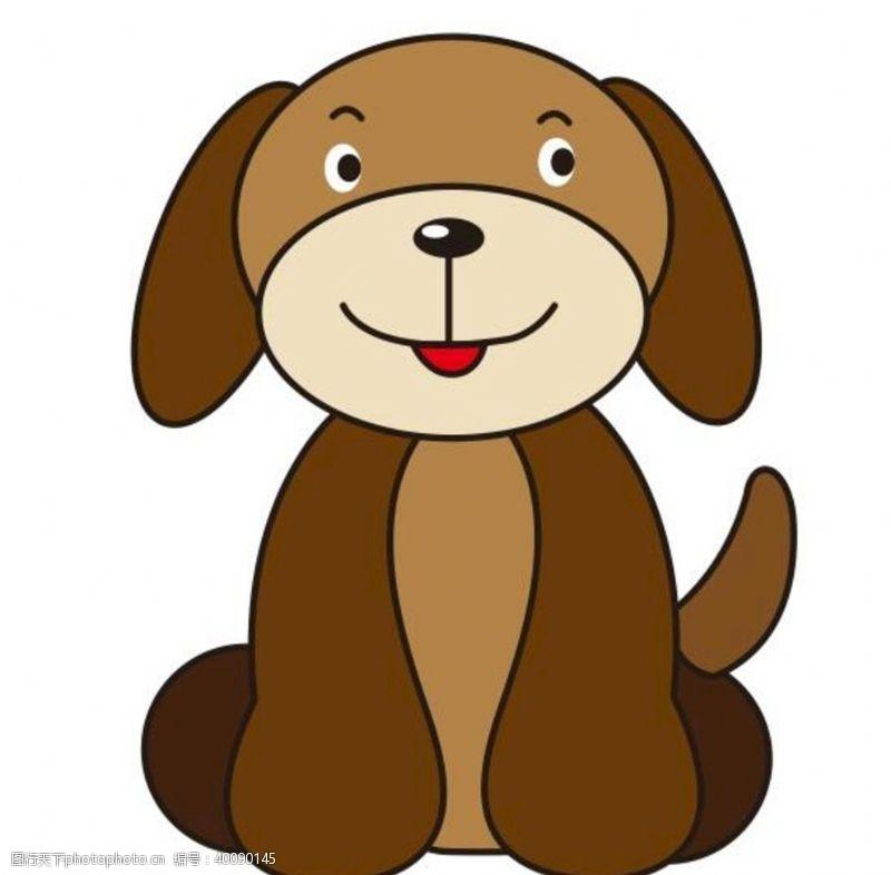 宠物小狗矢量卡通小狗图片