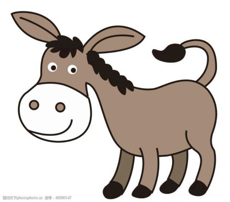 幼儿卡通矢量毛驴图片
