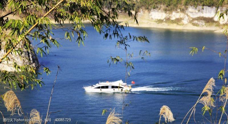 湿地公园游船图片