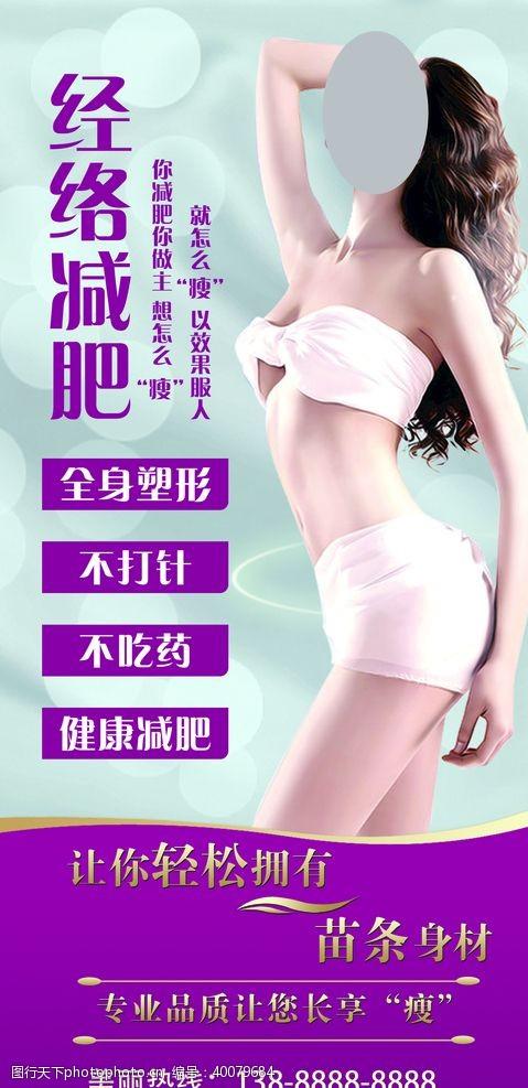 香薰美容展架海报图片