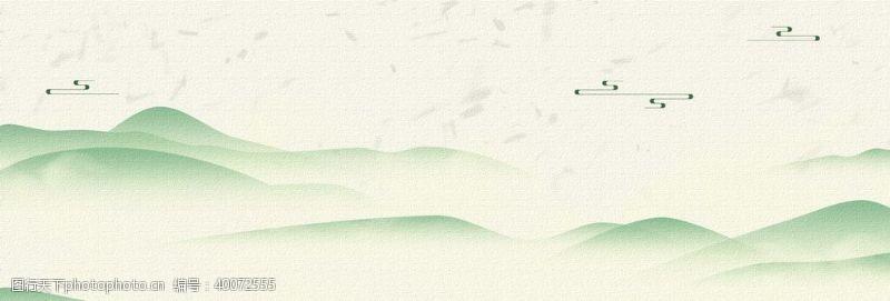 中国风山水海报背景图图片
