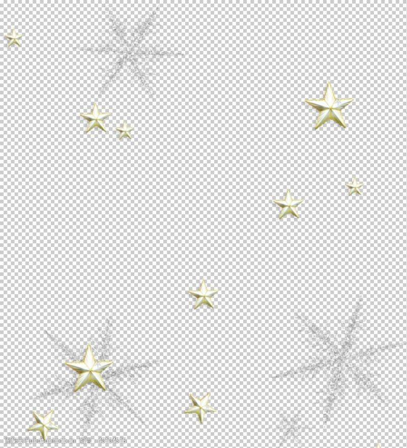 圣诞节日高端大气雪花星星图片