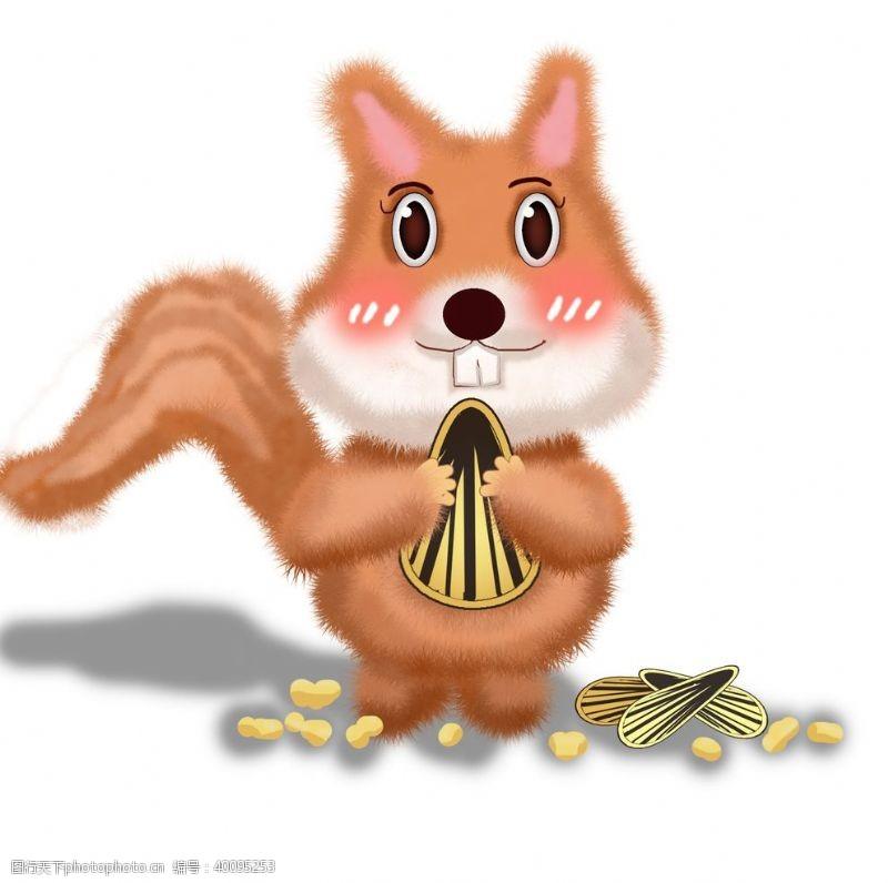 动物形象卡通手绘松鼠图片