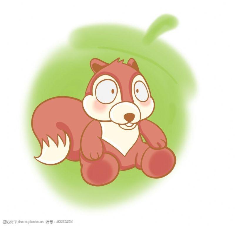 动物形象卡通松鼠插画图片