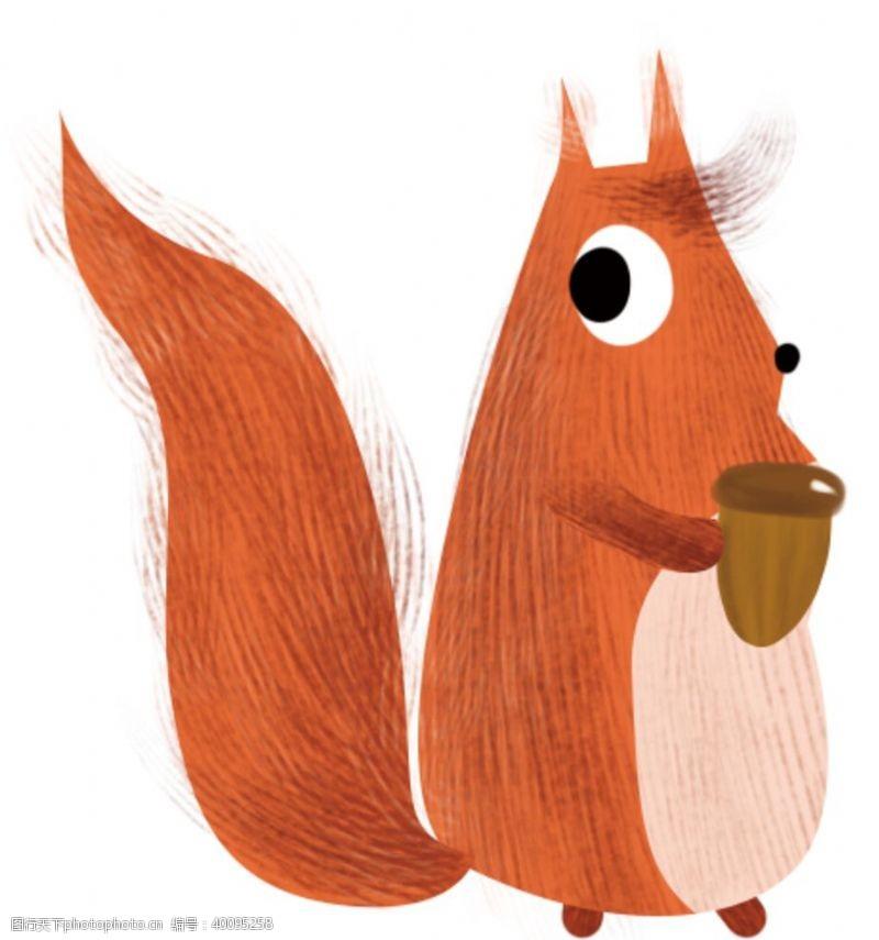 动物形象手绘松鼠插画图片