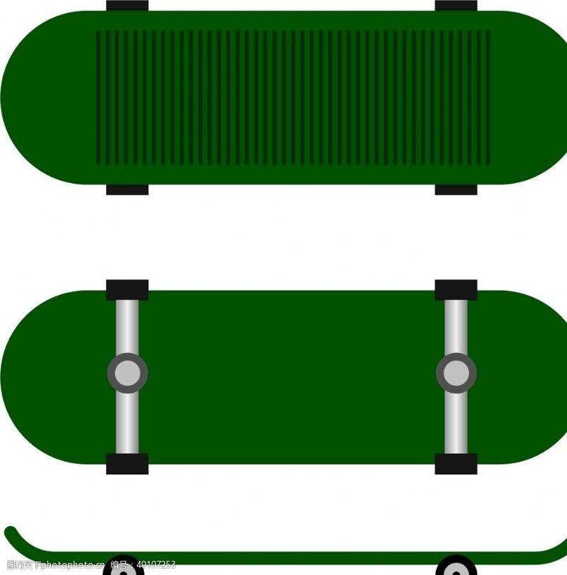 轮子滑板矢量插画图片