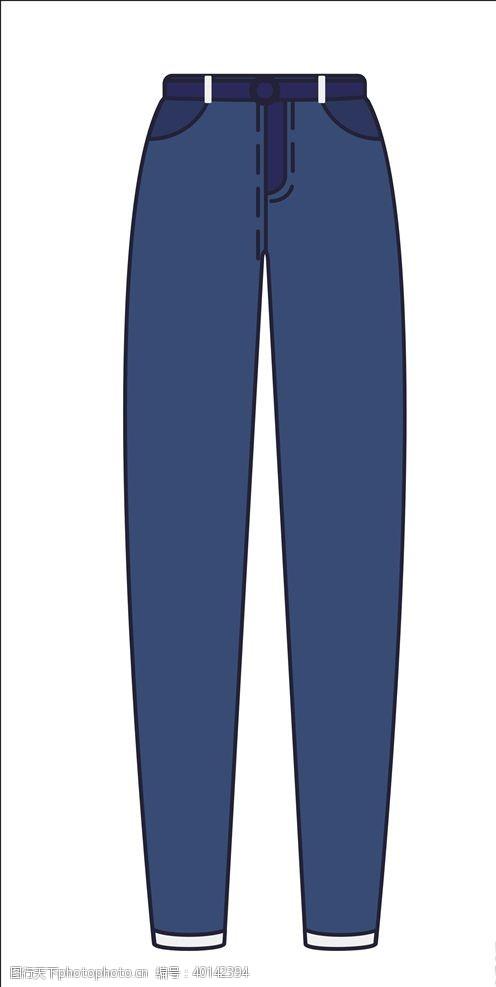 牛仔裤矢量图片
