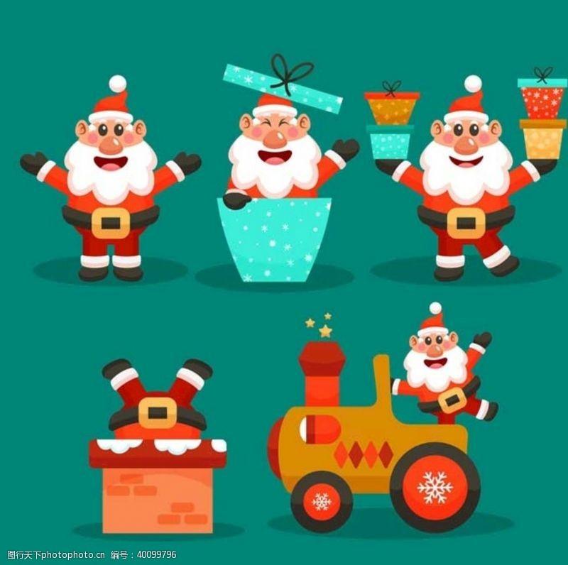 骑自行车圣诞老人图片