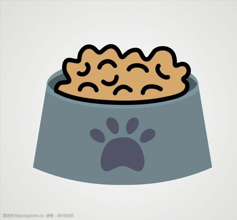 宠物小狗矢量狗粮图片