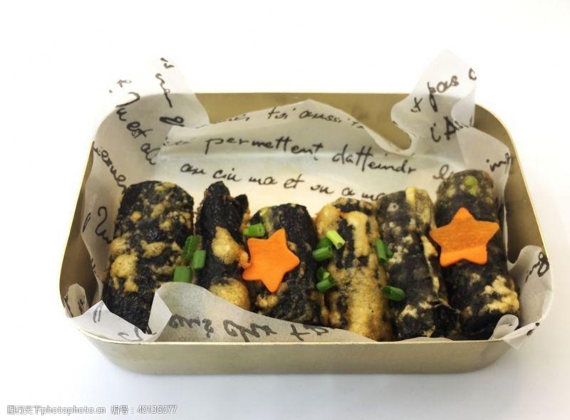 手工紫菜卷韩式料理图片