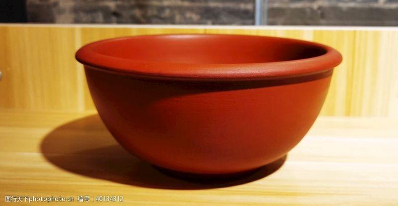 紫檀陶盆图片