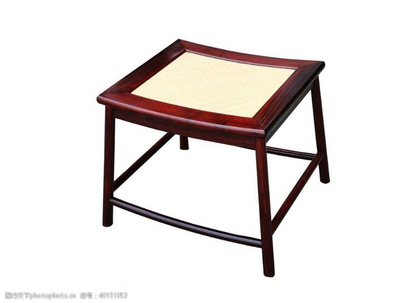 紫檀赞比亚小叶檀藤面方凳图片