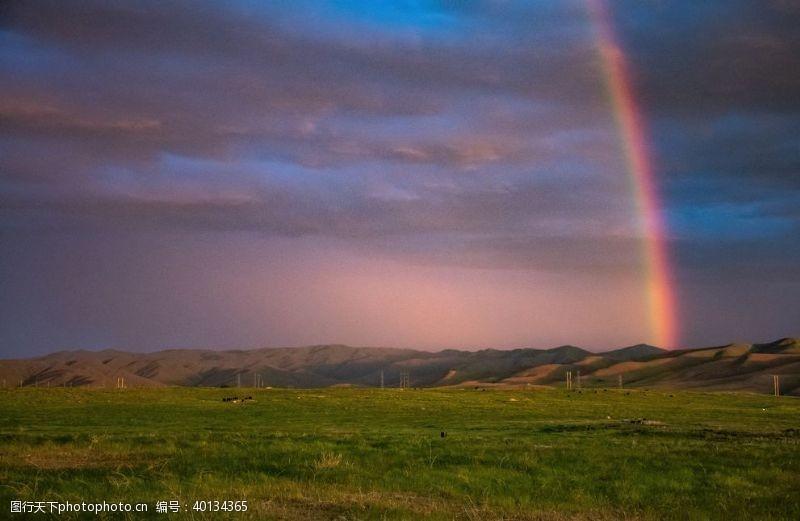 浪漫唯美彩虹图片