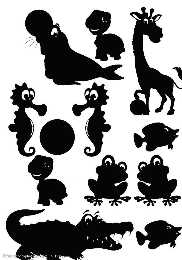 青蛙动物影子图片