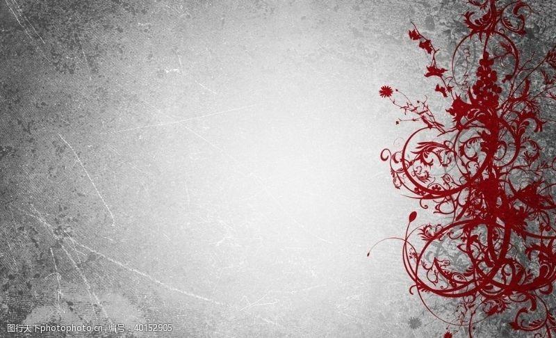 红色花纹背景图片