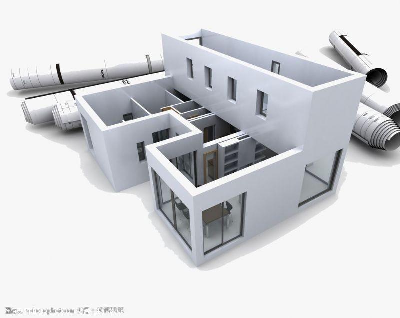 图纸建筑结构图房屋别墅房子图片